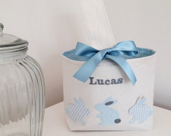 Personalised Easter Baskets with Bunnies