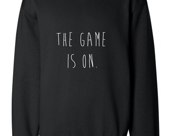 The Game Is On Sherlock Holmes Handpainted Sweatshirt