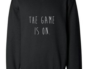 The Game Is On Sherlock Holmes Handpainted Sweatshirt