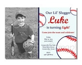 Baseball Invitation Birthday Party - DIGITAL or PRINTED
