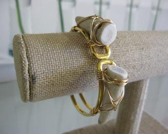 Klassy Rounds Gold Tone Deer Antler Cuff Bracelet