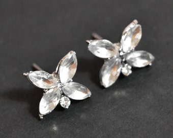 Vintage Rhinestone Stud Earrings, Post Earrings, Crystal Stud Earrings, Wedding Earrings, Bridal Earrings, Bridesmaid Gifts