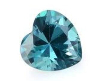 Teal Blue Topaz Loose Gemstone Heart Cut 1A Quality 7mm TGW 1.45 cts.