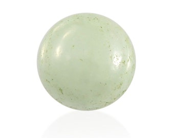 Natural Green Jade Round Cabochon Loose Gemstone 1A Quality 9mm TGW 2.75 cts.