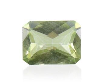 Mystic Green Topaz Loose Gemstone Octagon Cut 1A Quality 8x6mm TGW 1.60 cts.