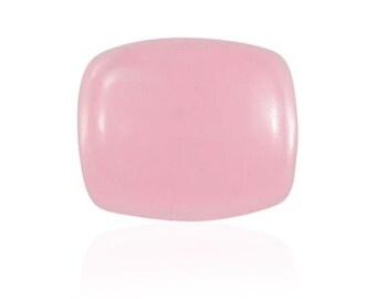Pink Jade Dyed Cabochon Loose Gemstone Cushion 1A Quality 10x8mm TGW 2.70 cts.