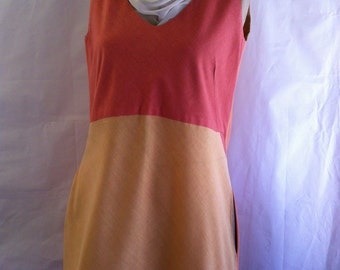 natural cotton hand dyed womens dress