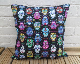 Day of the Dead/Sugar Skull Cushion Cover (Alexander Henry fabric)