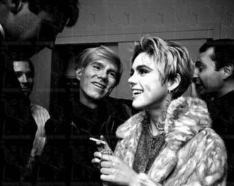 COOL RARE Andy Warhol & Edie Sedgwick at a NY Party - Photo Picture Art Print
