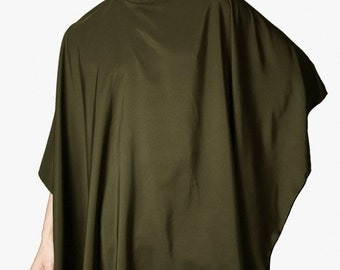 Ladybird Line Long Olive Cape, Hair Cutting & Shampoo Cape