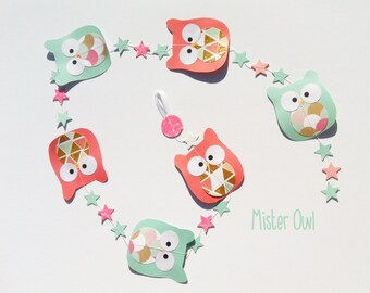 Owl garland : Mister Owl