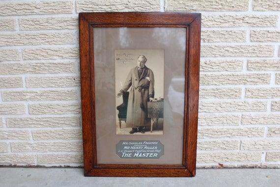 1898 Henry Miller The Master Frohman Autographed Photo Playbill