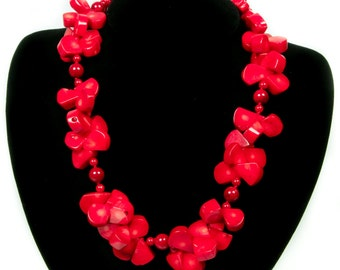 Beauty In Red Coral Necklace