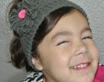 Toddler Ear Warmer Grey/Silver Speckles