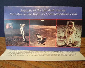 1989 Commemorative coin of the First Men on the Moon