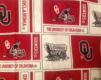 Playard Sheet, Pack 'n Play sheet, portable crib sheet,  Boomer Sooner, Oklahoma University