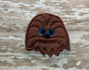Set of 4 Star Wars Chewbacca Chewy Chewie Face Feltie Felt Embellishment Bow! Birthday Party Oversize Large Oversized
