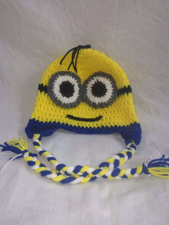 Knitting Pattern Minion Despicable Me Hat : Despicable Me Minion hat by MerysLittleCreations on Etsy