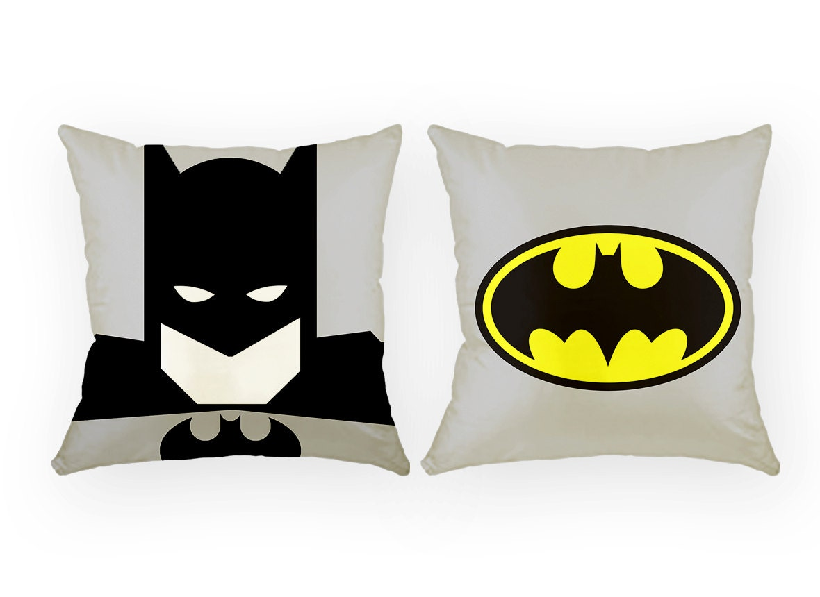 Justice League Throw Pillows : Batman pillow Batman justice league superhero by GEEKandtheCHIC