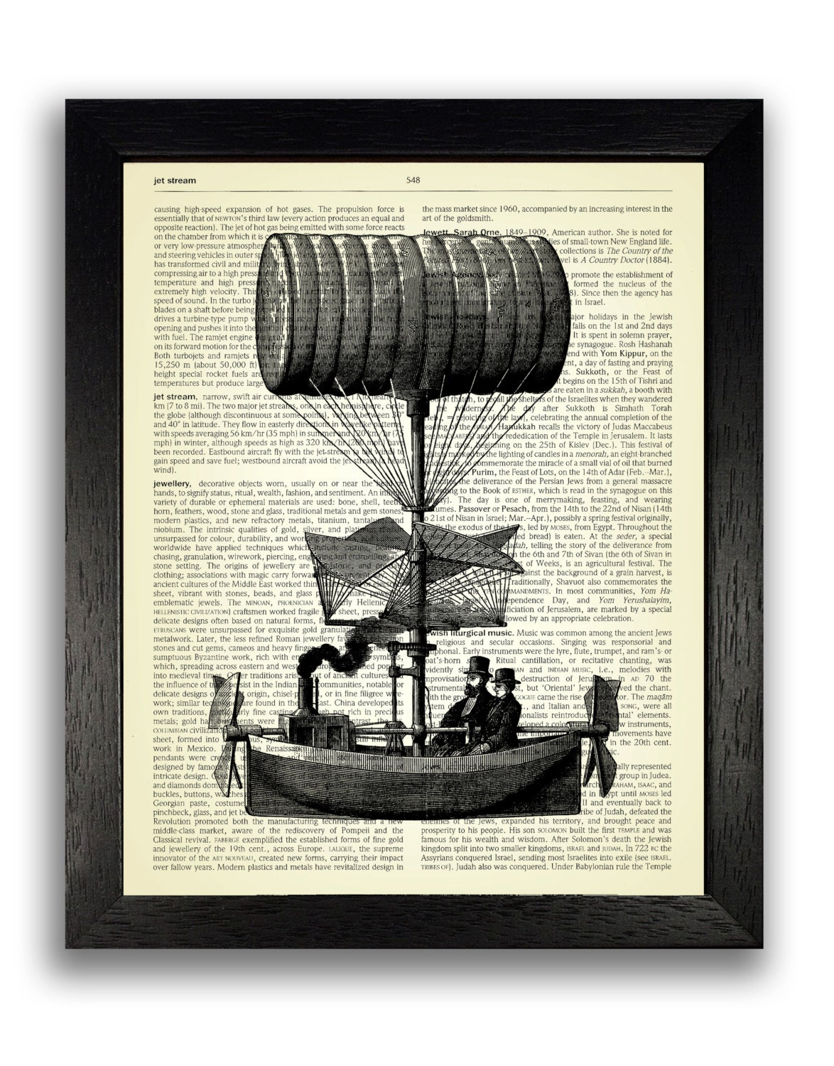 steampunk flying ship art print steampunk poster dictionary. Black Bedroom Furniture Sets. Home Design Ideas