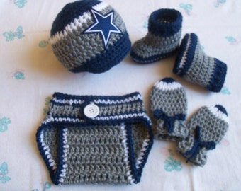 Items similar to Dallas Cowboys Baby Girl Dress Outfit Sz