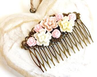 Vintage Pink Hair Comb