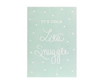 Snuggle Letterpress Card