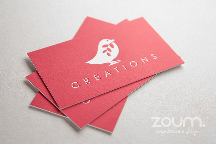 500 ultra thick business cards on uncoated stock with by zoum for Zoum business cards