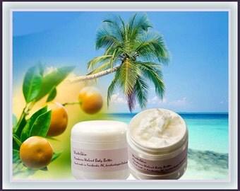 Mandarin Vanilla Walnut Coconut Body Butter,  Skin Moisturizer, 4 oz, 8 oz
