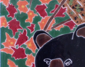 Bear with Fall Leaves