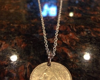 Italy 100 Lira Coin necklace