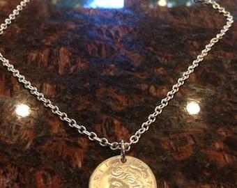 Brazil 20 centavos coin necklace