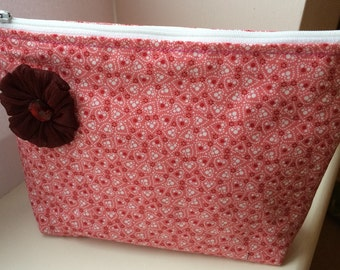 Pink and Red Toiletry/Make Up Bag
