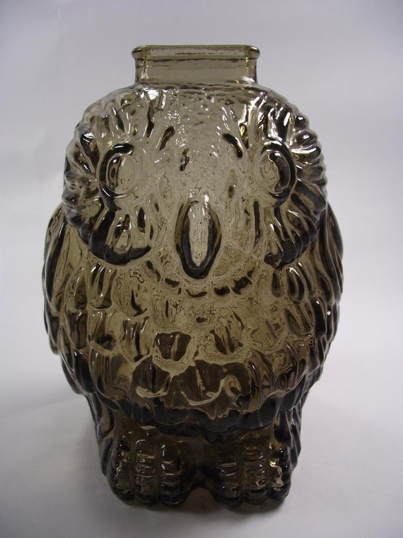 Resrved for angelika1970 39 s glass coin bank wise old owl - Wise old owl glass bank ...