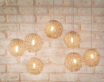 30% off - Modern pendant lighting. Dining room lighting. Cluster pendant light. Hanging lamps.