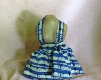 Very Vintage Blue Stripped Pinafore