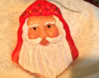 Ho Ho Wooden Santa Claus