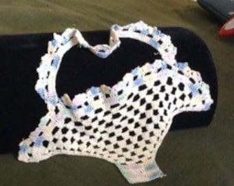 Lovely Easter Basket Crocheted Appliqué
