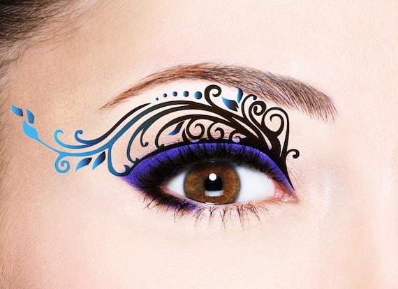 Eye makeup temporary tattoos