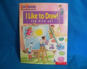 vintage I Like to Draw! Fun with Art  - Great Beginnings Activities for Gifted and Talented Kids, Level 2