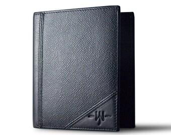 The Bill - Slim Bi-Fold Mens European Style Wallet : Black