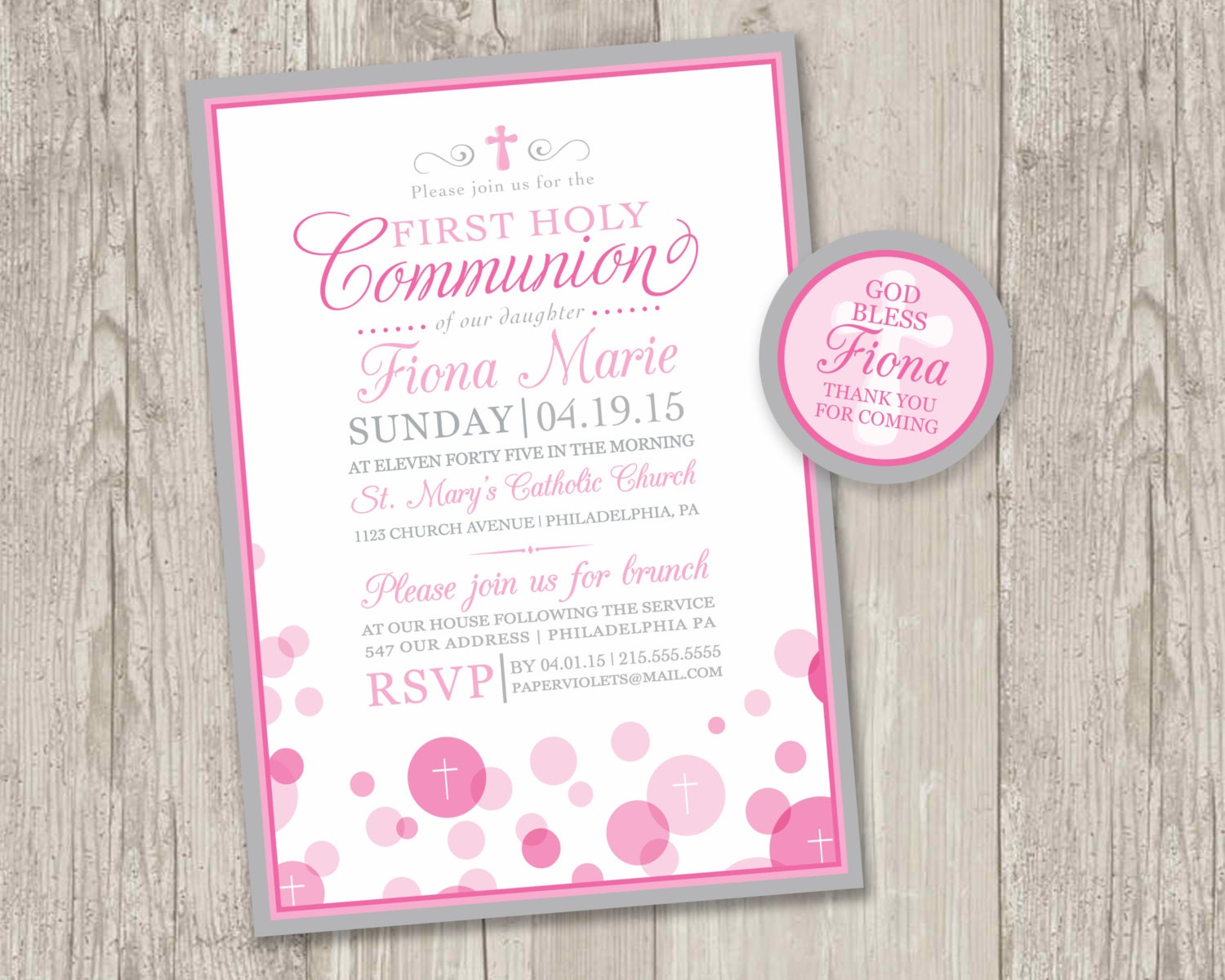 Clever image throughout first communion cards printable
