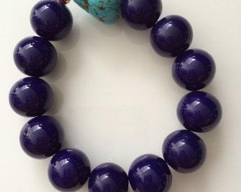 Chunky magnesite bracelet