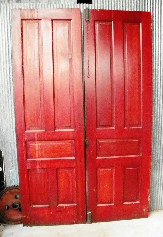 Vintage antique 1800 s double door library 8 foot tall - 8 foot tall interior french doors ...