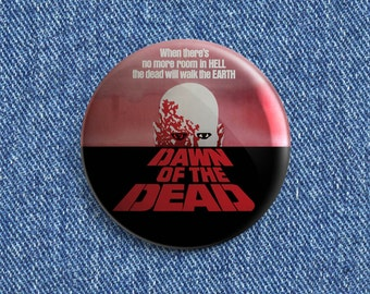 Dawn of the Dead movie poster button