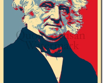 Martin Van Buren Original Art Print - 12x8 Inch Photo Poster Gift - Barack Obama Hope Parody - Former President of USA