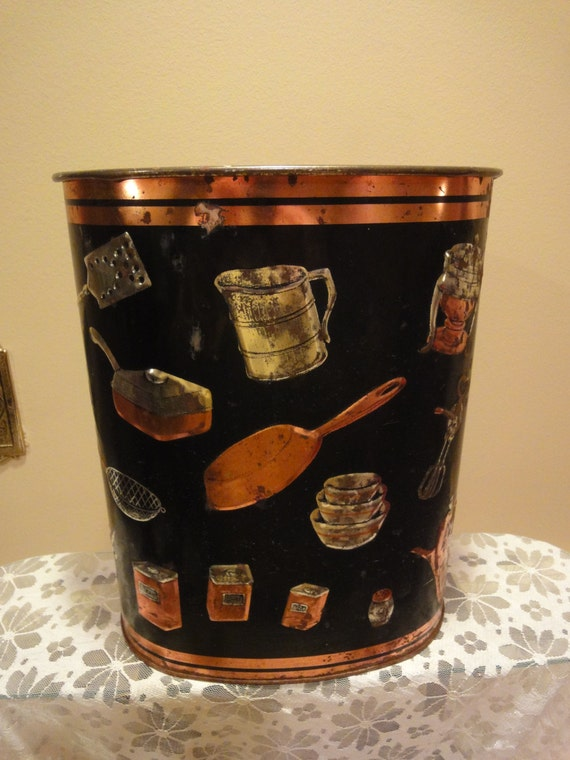 Weibro Corp Vintage Trash Can Metal Trash Can Made In The