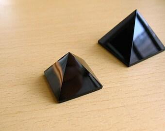 Natural Obsidian Pyramid Power Black Obsidian Crystal Pyramid Reiki Meditation Healing Crystal Pyramid Feng Shui