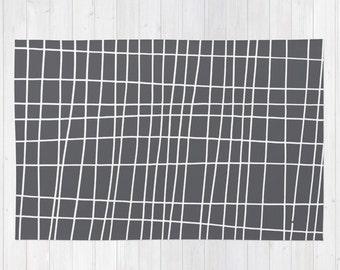 Gray Area Rug, Grey Throw Rug 2x3, Neutral Modern Rug , Geometric Rug 3x5, woven rug