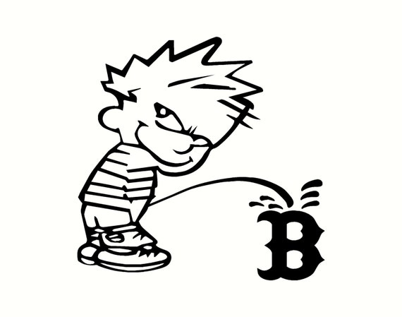 Calvin pee on red sox